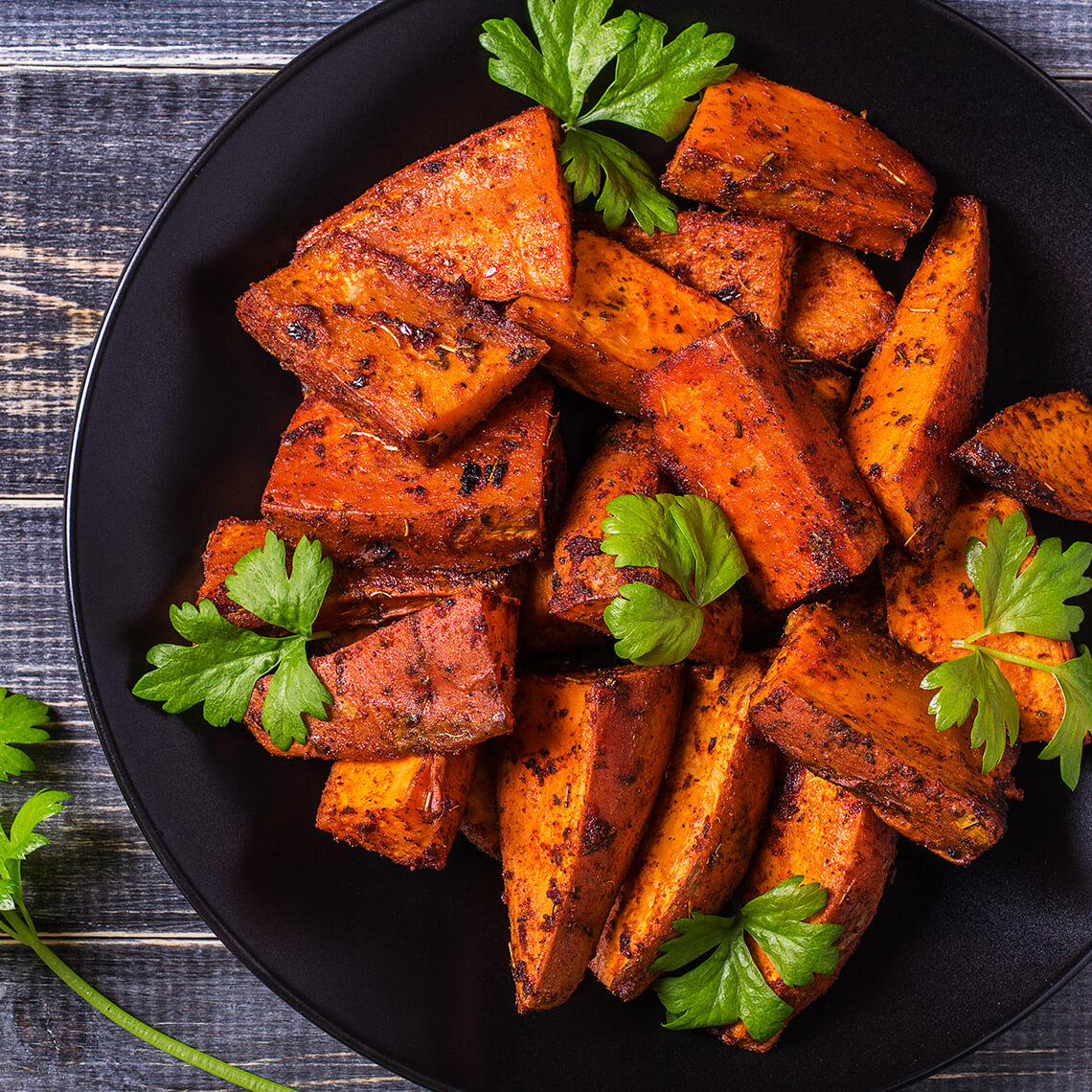 Sweet potatoes with orange and ginger