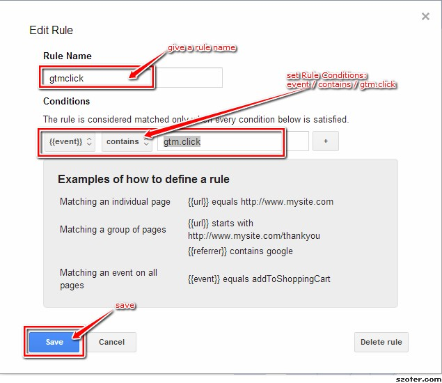 Google Tag Manager - Add gtm.click rule