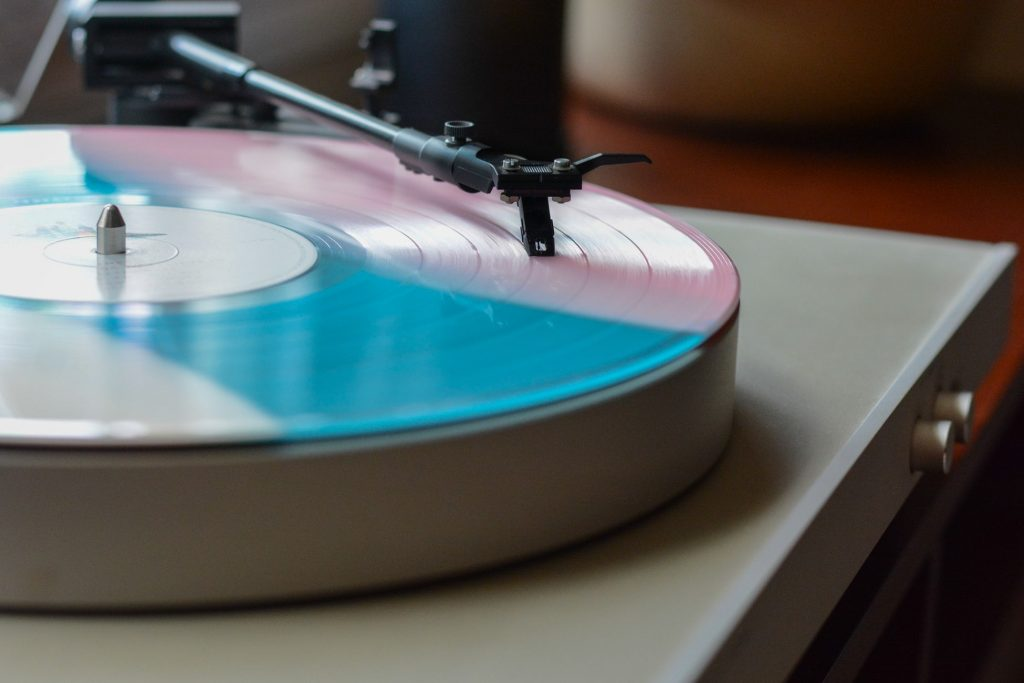 Vinyl Record Player as a Wedding Gift Idea