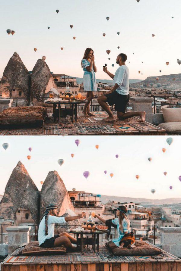 hot air balloons proposal idea