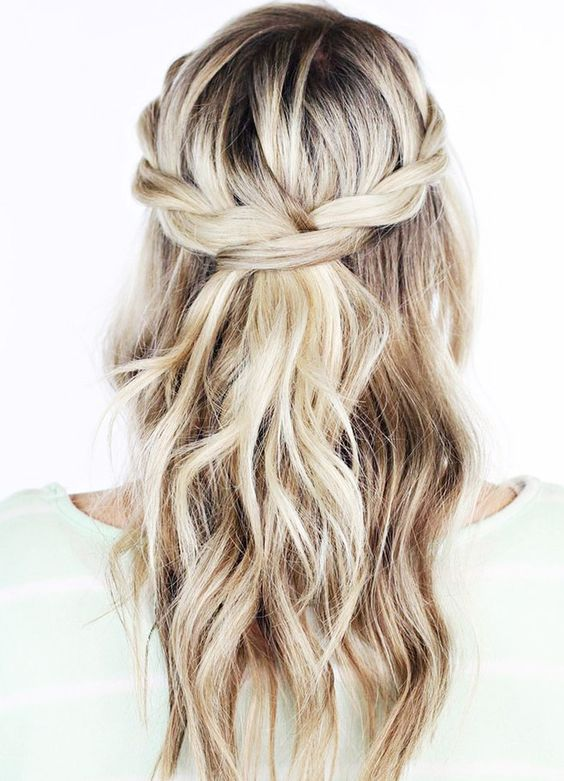 Classical half-up wedding hair style