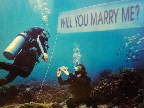 scuba diving proposal idea