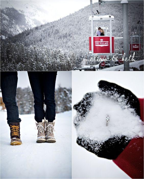 skiing proposal idea