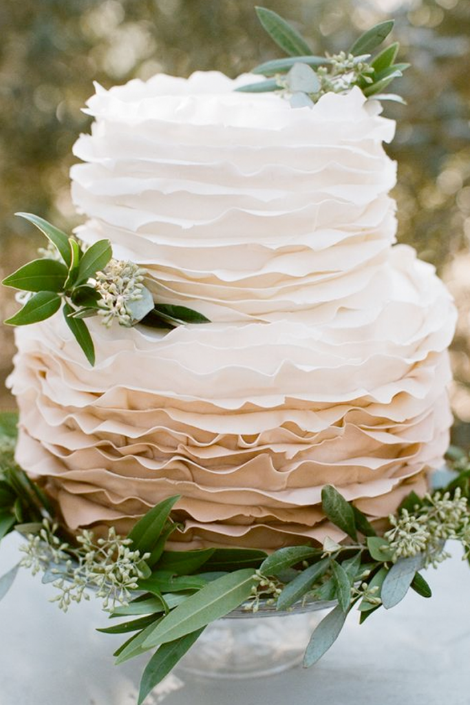 White Textured Buttercream Wedding Cake