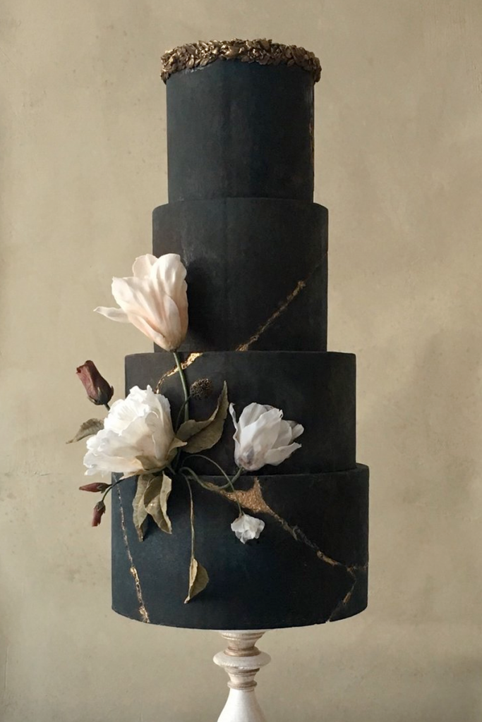 Gothic Dark Wedding Cake