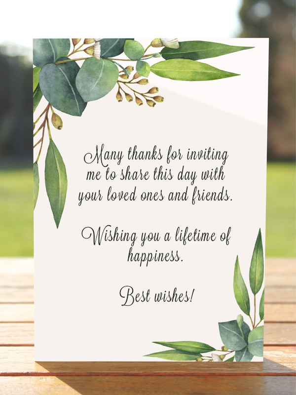 Wedding Card Wishes.Wedding Wishes What To Write In A Wedding Card Poptop