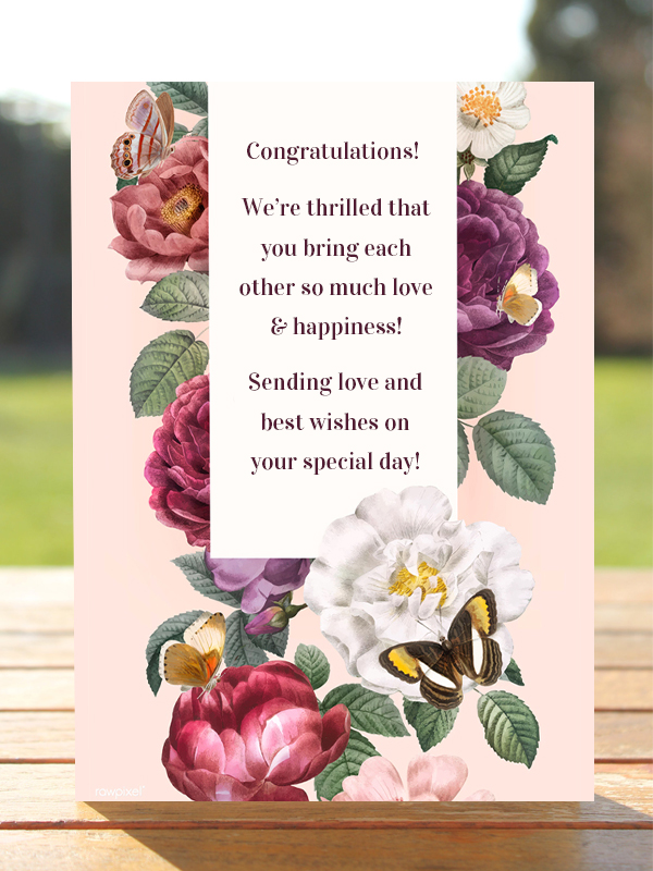 What to write in a wedding card for a parent