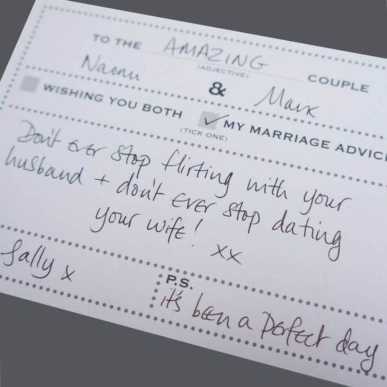 What to write in a wedding card for casual weddings
