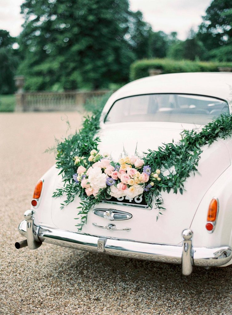 wedding car flower decorartions