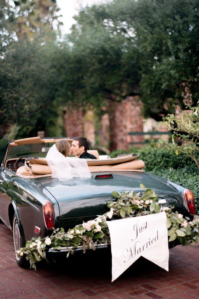 just married wedding car decoration