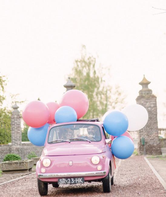 ballons wedding car decoration