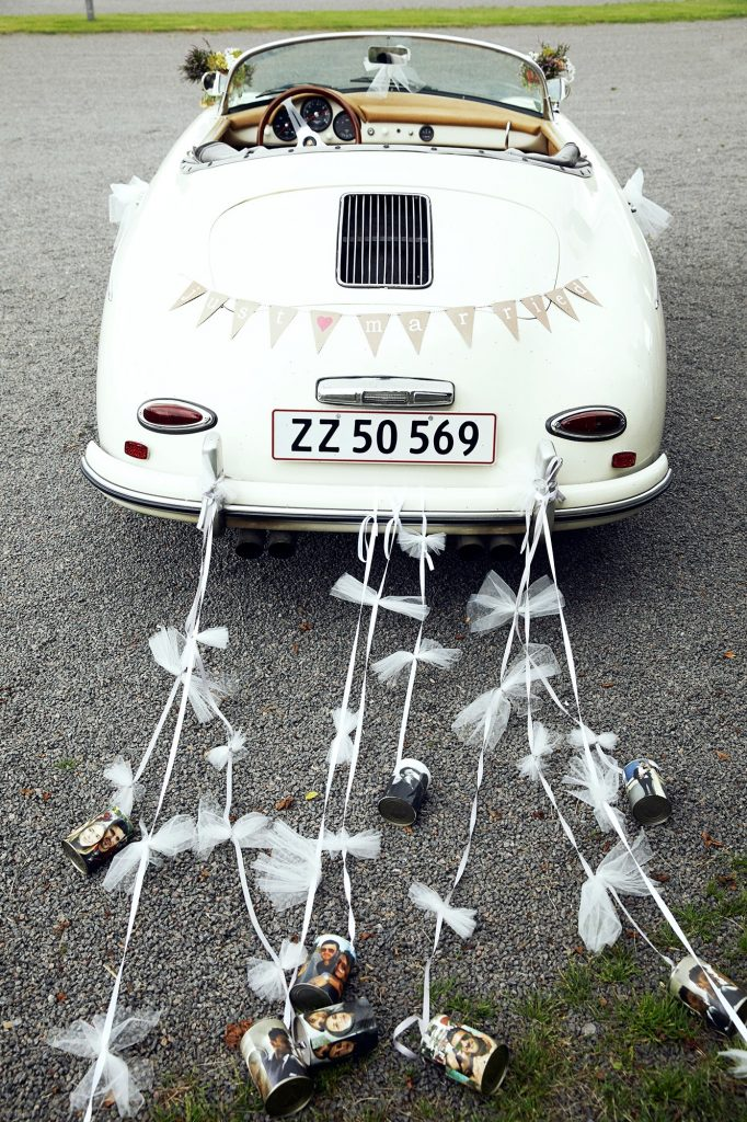 personalized wedding car decoration