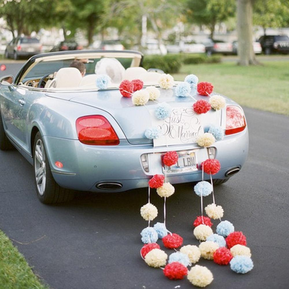 paper wedding car decoration