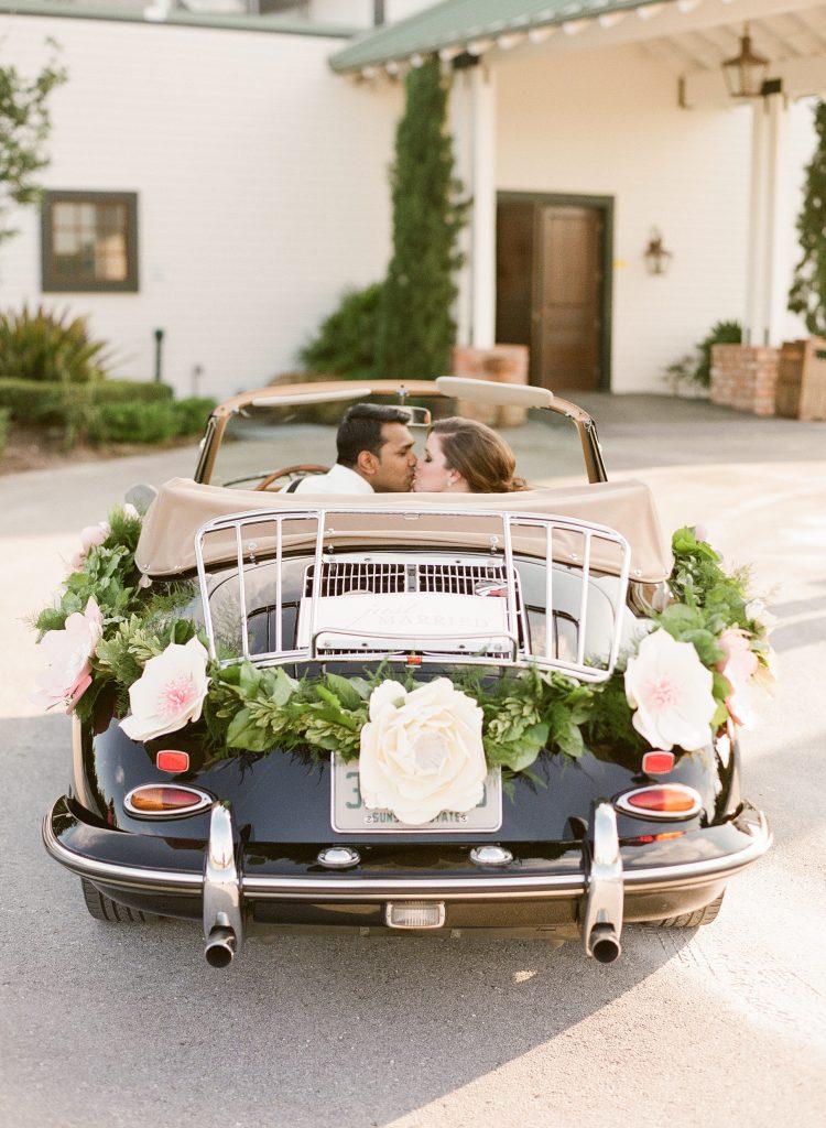 flower wedding car decoration