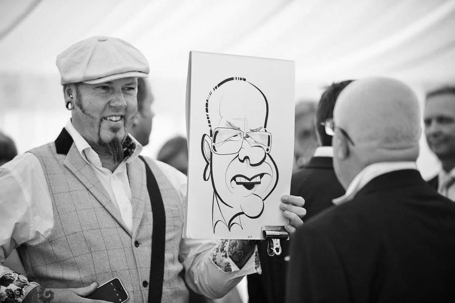 caricaturist wedding entertainment