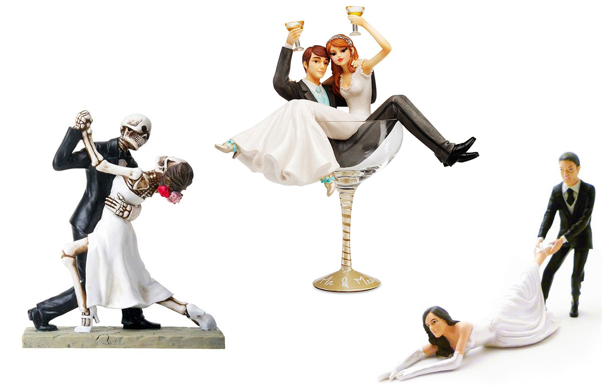 Funny Wedding Cake Toppers To Make Your Day Extra Special