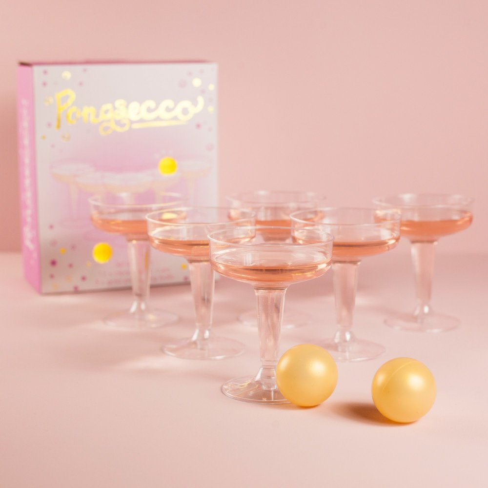 prosecco pong hen party games