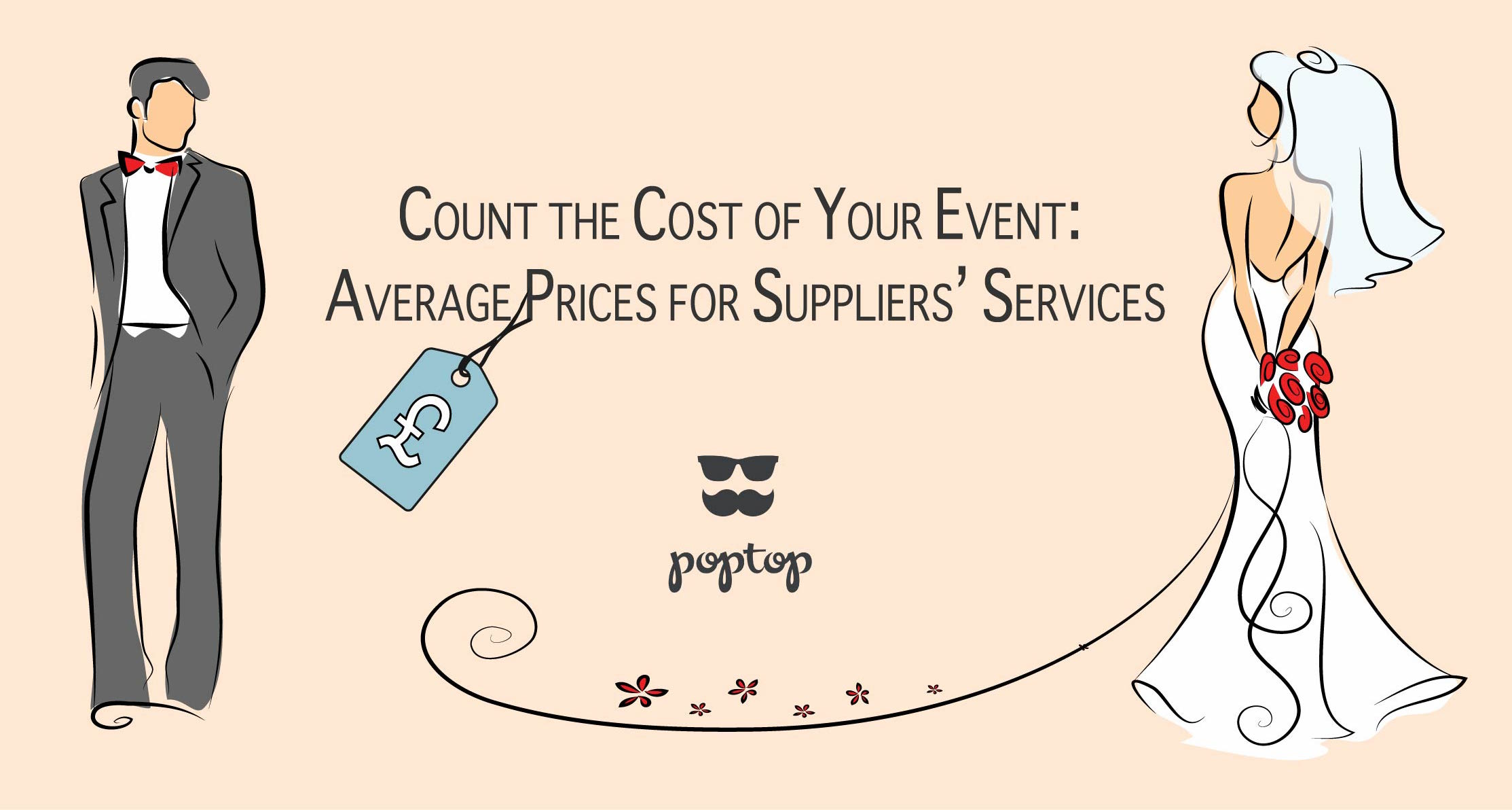 average prices for event suppliers at poptop