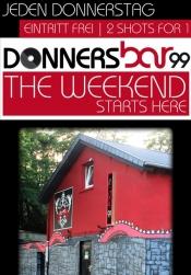 DonnersBAR - Eintritt frei | 2 Shots for 1