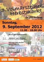 3. Volmarsteiner Herbstmarkt mit verkaufsoffenem Sonntag