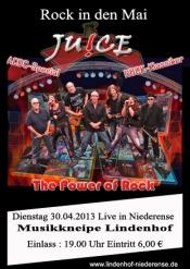 Rock in den Mai mit JUICE im Lindenhof