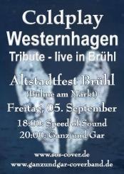 "Coldplay Tribute Band ""Speed of Sound"" auf dem Brühler Altstadfest"