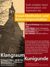 Vokal-Meditation & Stimm-Improvisation im Klangraum Kunigunde