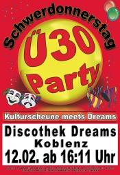 """ü-30 Party Am """"Schwerdonnerstag"""""""
