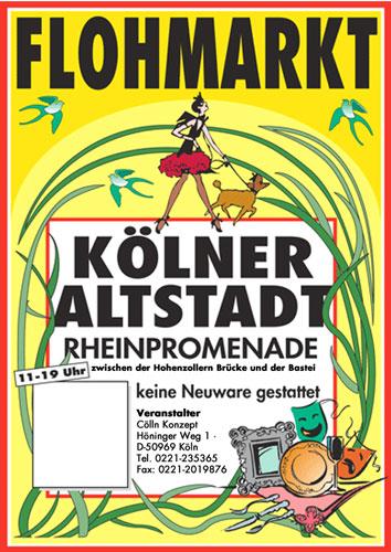 Antikmarkt Kölner Altstadt, Rheinuferpromenade
