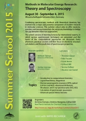 "Summer School 2015 ""Methods in Molecular Research: Theory and Spectroscopy"""