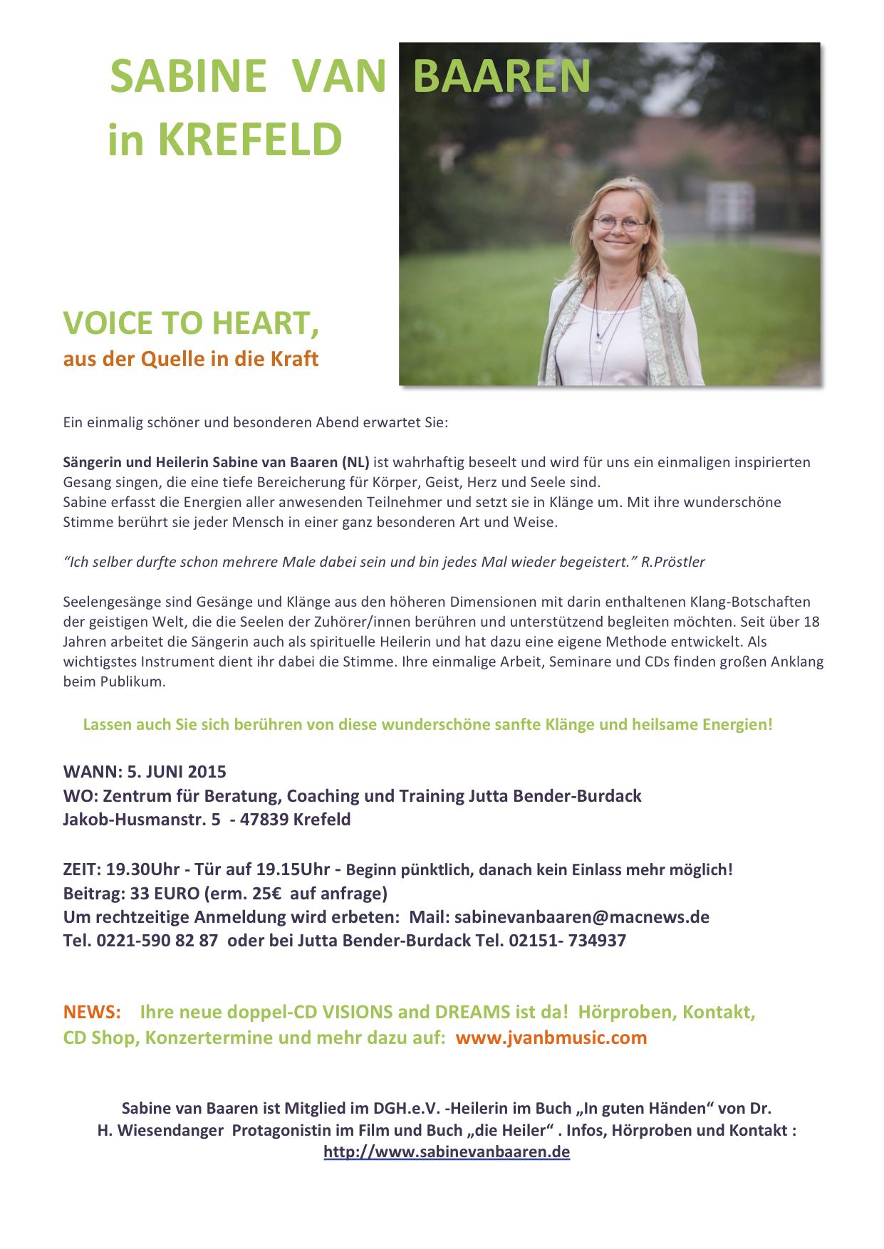 Voice to Heart -aus der Quelle in die Kraft