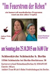 """""""Im Feuerstrom der Reben""""  ein Weinprogramm"""