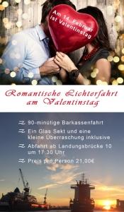 Romantische Schiffsfahrt an Valentinstag