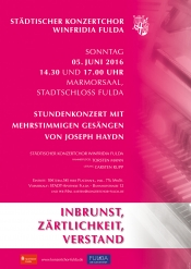 """Städtischer Konzertchor Winfridia: Stundenkonzert """"Inbrunst, Zärtlichkeit, Verstand"""""""