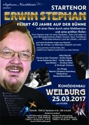 Startenor  Ks Erwin Stephan  40 Jahre auf der Bühne   am 25.03.2017  in Weilburg