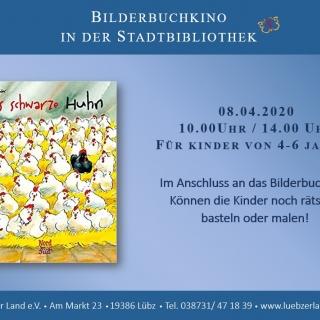 """ABGESAGT! Bilderbuchkino in der Stadt- und Kinderbibliothek Lübz """"Das schwarze Huhn"""""""
