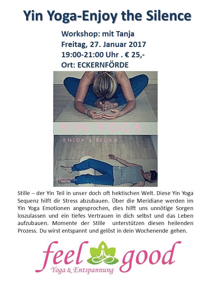 Yin Yoga Workshop In Eckernforde Enjoy The Silence