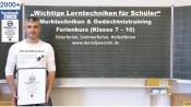 Ferienkurse 2017 Lernmethoden für Schüler - Gedächtnistraining / Kurs