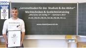 Lernmethoden & Gedächtnistraining für das Studium & das Abitur