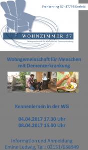 """Demenz WG """"Wohnzimmer 57"""" - Tag der offenen Tür Frühjahr 2017"""