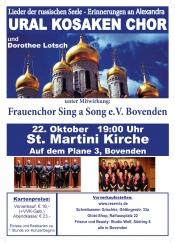 "Ural Kosaken Chor & Dorothee Lotsch & Frauenchor ""Sing a Song"""