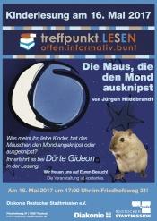 """Kinderlesung """"Die Maus, die den Mond ausknipst"""" von Jürgen Hildebrandt mit Dörte Gideon"""