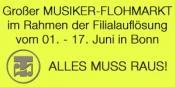 Musiker Flohmarkt - Filialauflösung