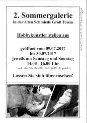 2. Sommergalerie in der Alten Schmiede in Groß Tessin