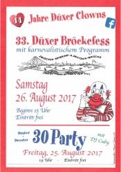 Brückenfest der Düxer Clowns