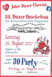 33. Bröckefess der Düxer Clowns e.V.