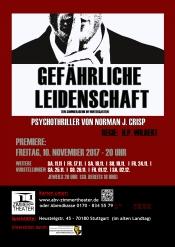 """""""Gefährliche Leidenschaft"""" Psychothriller von Norman J. Crisp"""