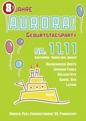 Aurora - 8. Geburtstagsparty mit Sekt und Gastgeschenken!