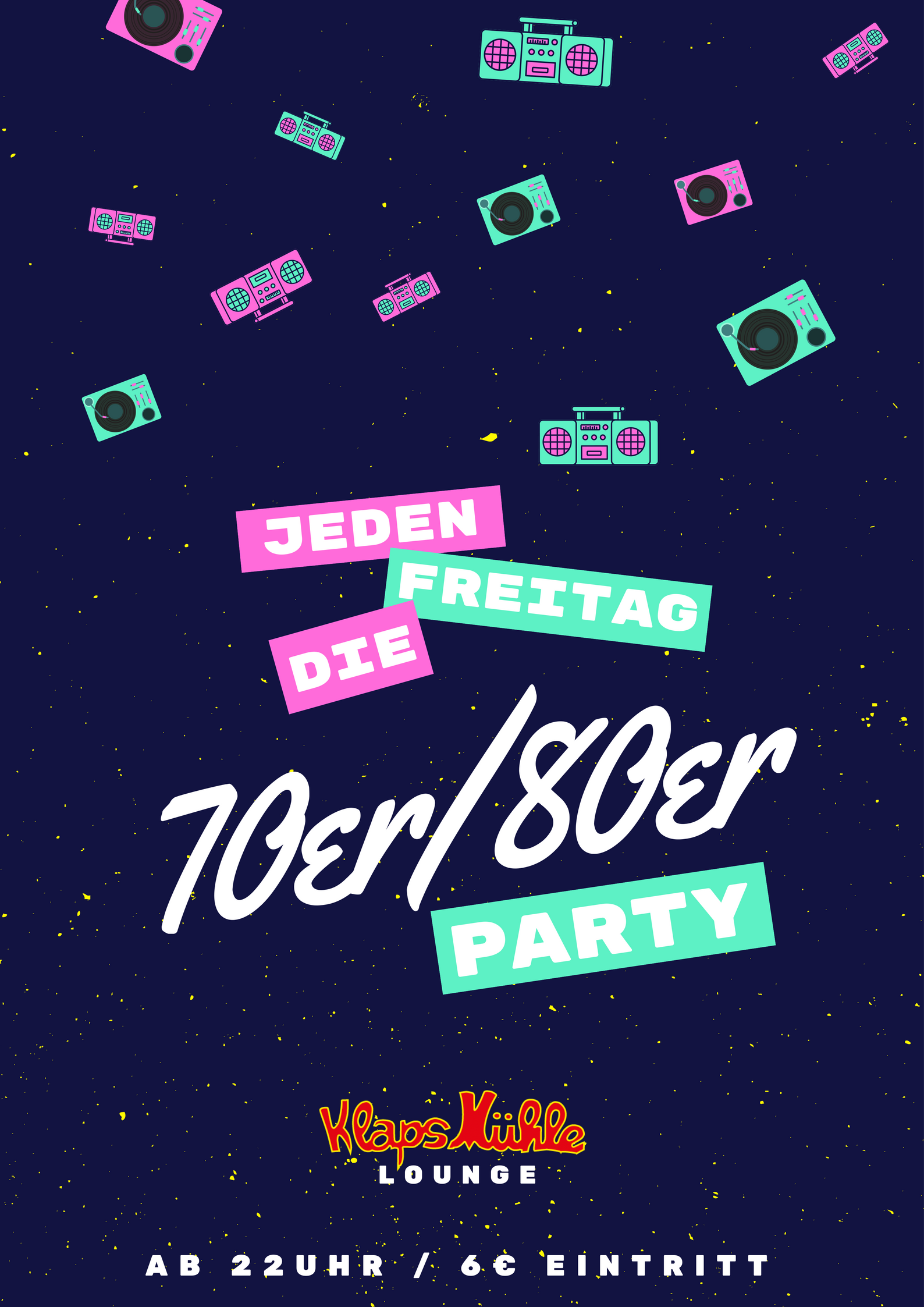 Die 70er/80er Party in Köln am 08.12.2017, Klapsmühle Lounge