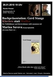 Lesung Mit Klavierstücke: Gerd Stange, Klaviere Statt Waffen Mit Der Konzertpianistin Marina Savova